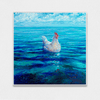 Chicken of the Sea Interchangeable Fabric Art Print Created By Iris Scott