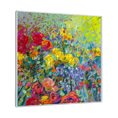 Clay Flowers Interchangeable Fabric Art Print Created By Iris Scott