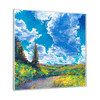 Edge of Canyon Road Interchangeable Fabric Art Print Created By Iris Scott