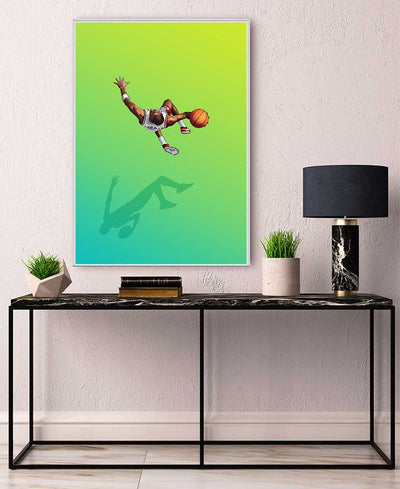 Float Like the Greatest Interchangeable Fabric Art Print Created By Jason Ratliff