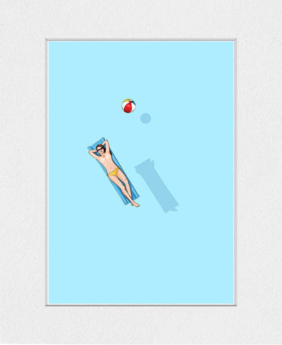 Float Under the Sun Interchangeable Fabric Art Print Created By Jason Ratliff