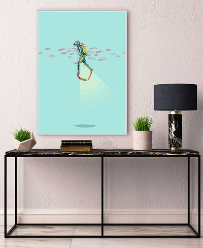 Float Under the Sea Interchangeable Fabric Art Print Created By Jason Ratliff