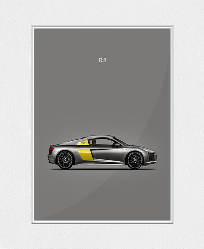 Audi R8 Interchangeable Fabric Art Print Created By Mark Rogan
