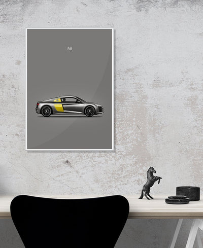 Audi R8 Art Print Created By Mark Rogan