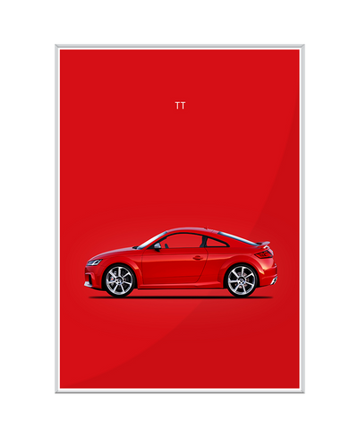 Audi TT Interchangeable Fabric Art Print Created By Mark Rogan
