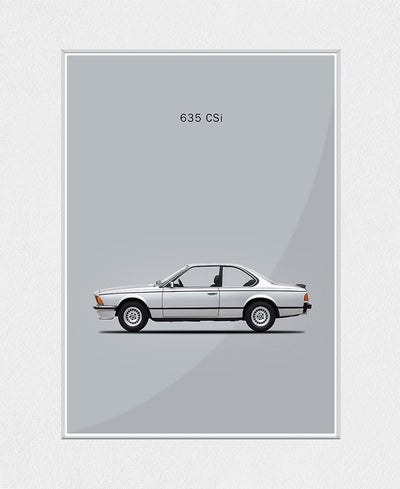 BMW 635-CSI 1981 Art Print Created By Mark Rogan