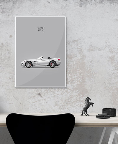 Dodge Viper SRT-10 Interchangeable Fabric Art Print Created By Mark Rogan