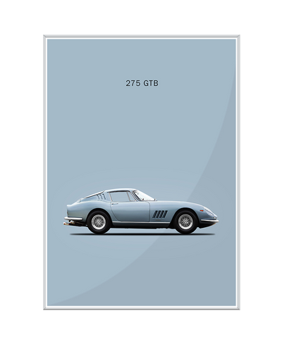 Ferrari 275 GTB 1966 Interchangeable Fabric Art Print Created By Mark Rogan