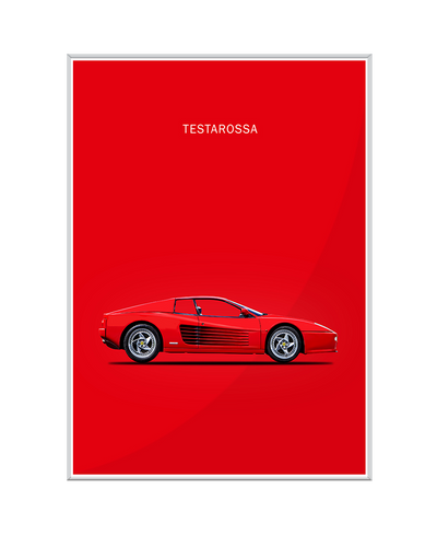 Ferrari Testarossa Interchangeable Fabric Art Print Created By Mark Rogan