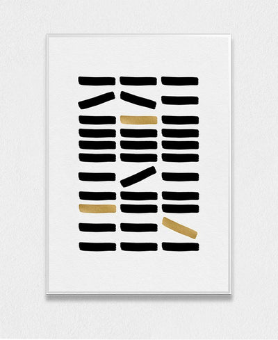 Black & Gold Abstract Art Print Created By Orara Studio