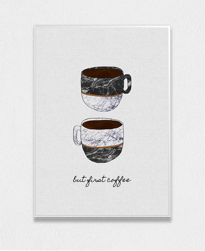 But First Coffee Art Print Created By Orara Studio