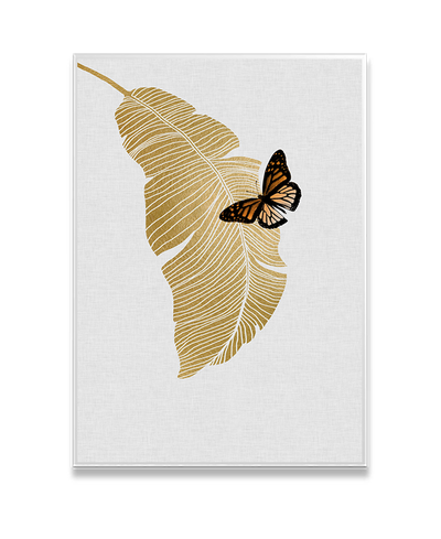 Butterfly & Palm Interchangeable Fabric Art Print Created By Orara Studio