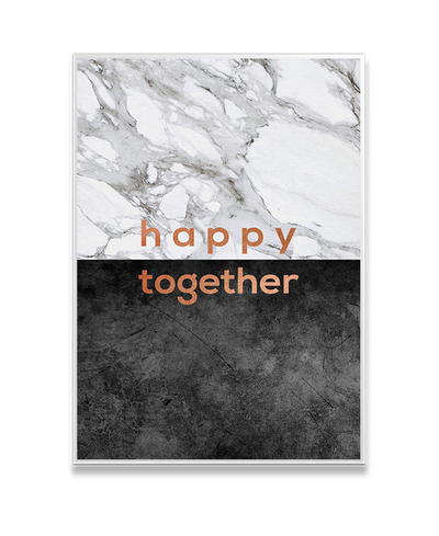 Happy Together Copper Interchangeable Fabric Art Print Created By Orara Studio