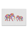 Floral Elephants Interchangeable Fabric Art Print Created By Orara Studio