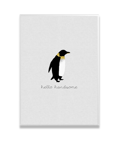 Hello Handsome Interchangeable Fabric Art Print Created By Orara Studio