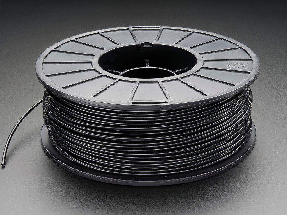 3D Printer Filament, PLA, 3mm, Black, 1kg