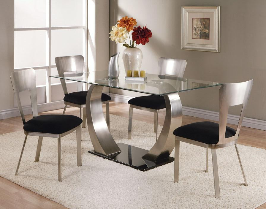 Glass Table And 4 Chairs Clearance Final Price Last One Available Brownie Furniture