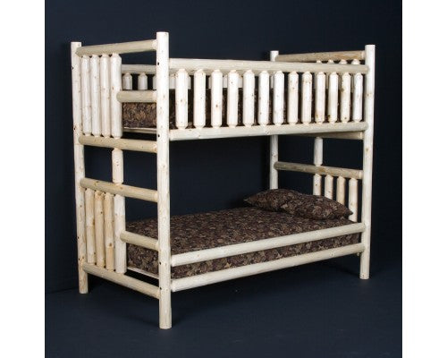 Northwoods Log Bunk Bed Brownie Furniture