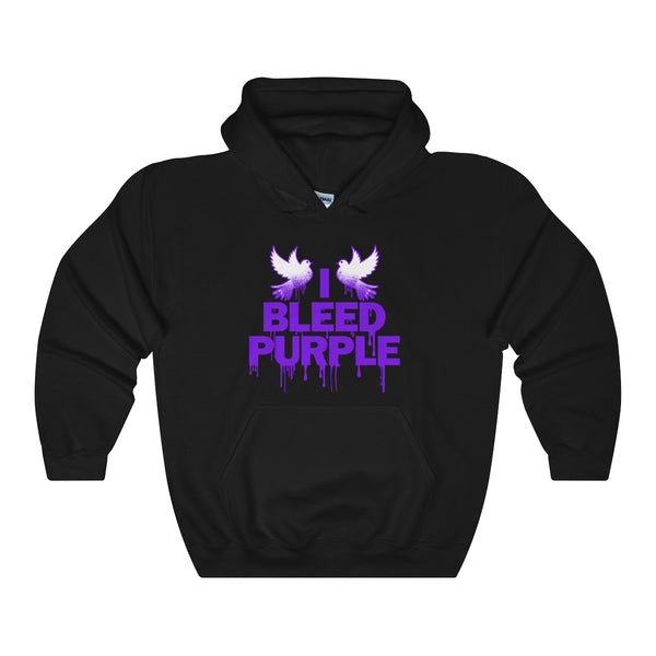 Unisex Heavy Blend Hooded Sweatshirt Prince: I BLEED PURPLE