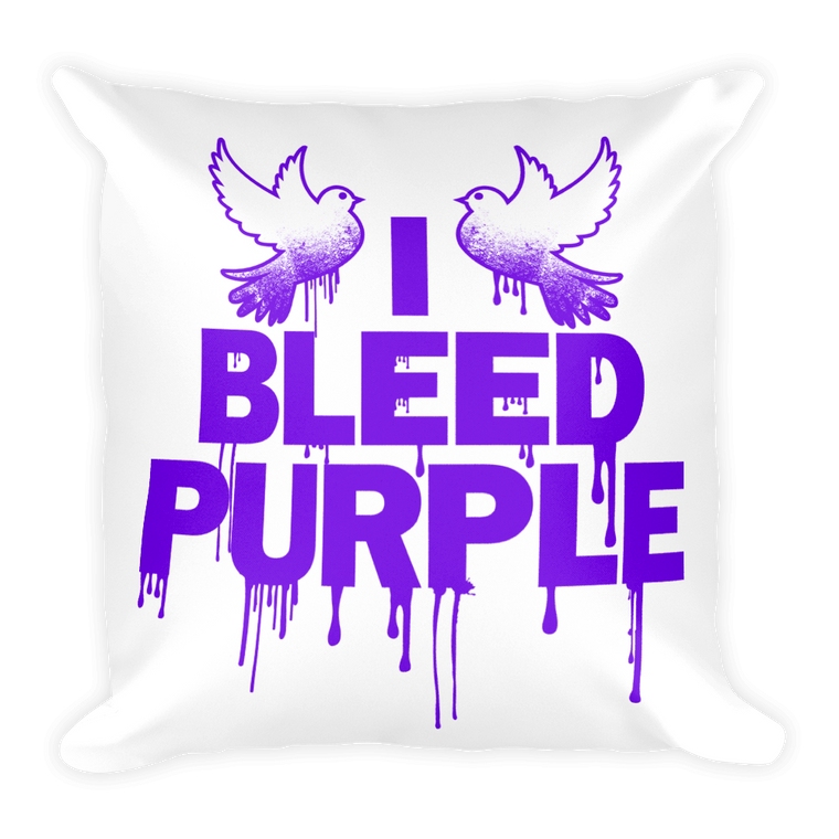 Square Pillow: I BLEED PURPLE (Prince)