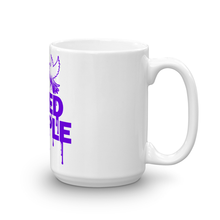 Mug made in the USA; 15 oz; I BLEED PURPLE (PRINCE)