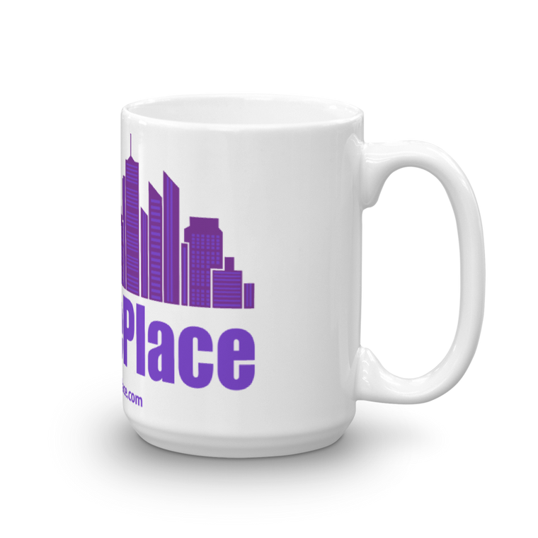 Mug Made in the USA 15 oz Purple Place Minneapolis