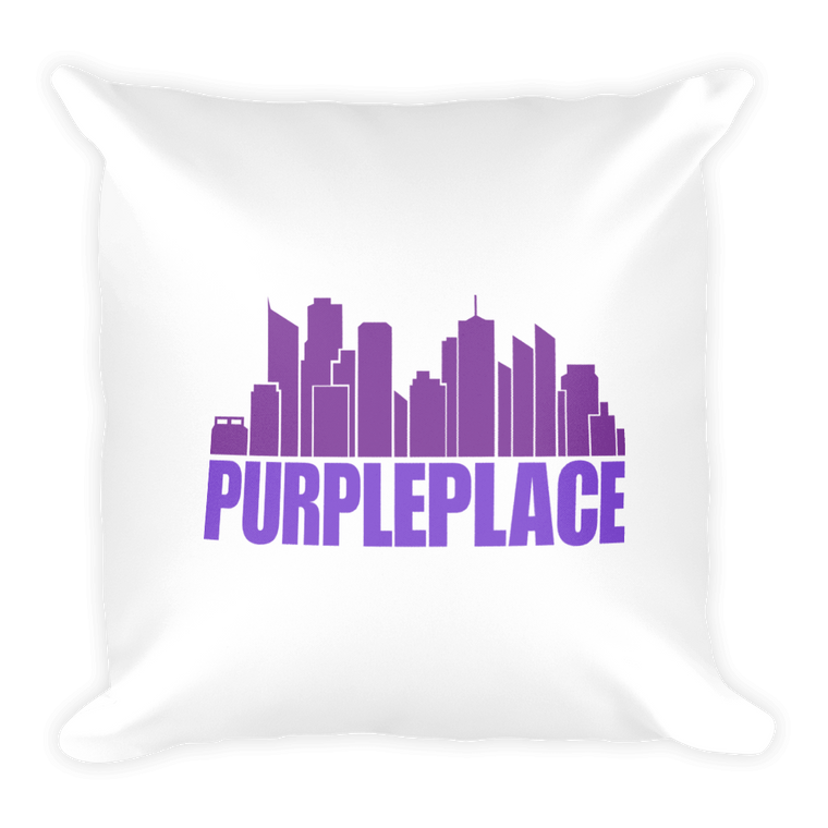 Square Pillow; Prince Purple Place