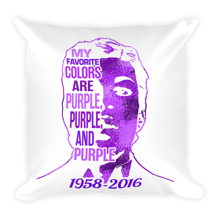 Square Pillow: Purple, Purple, & Purple