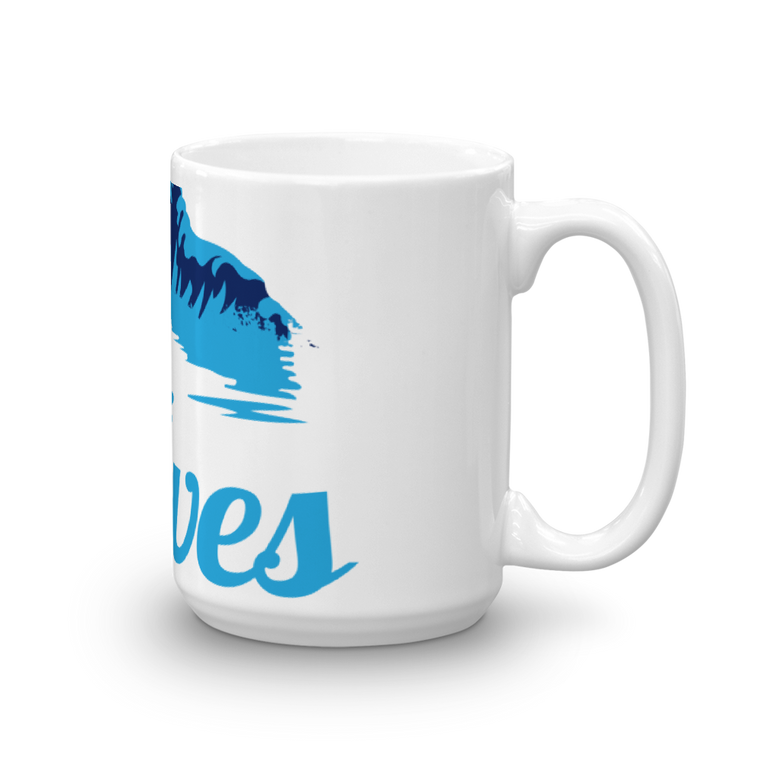 Mug made in the USA 15 oz: Waves