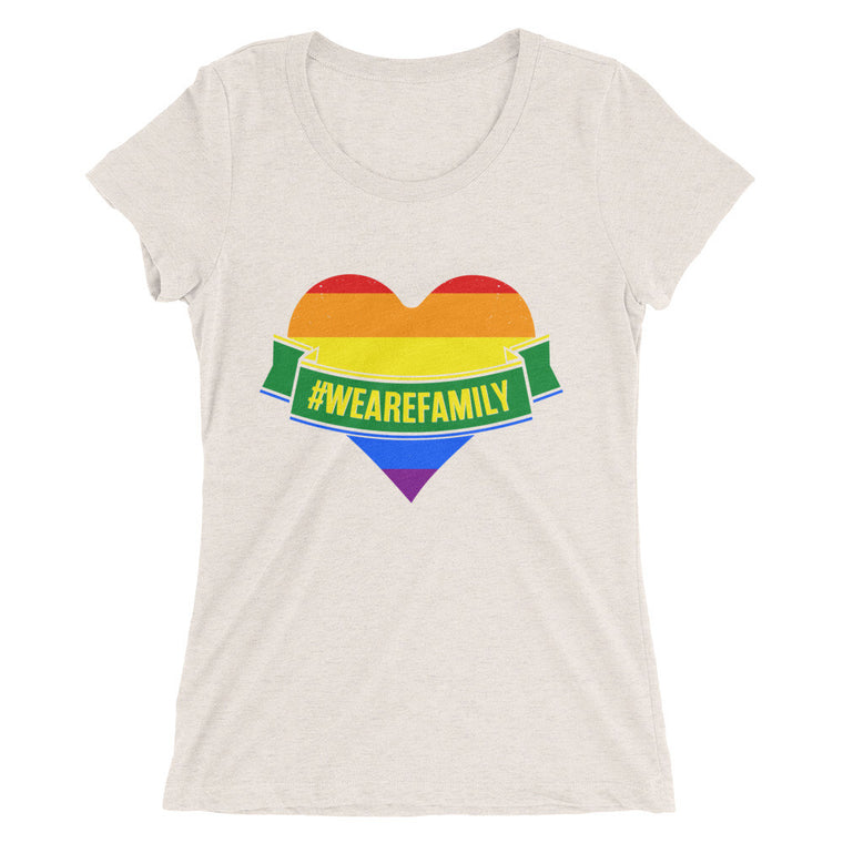 Women's short sleeve t-shirt PRIDE! WE ARE ALL FAMILY