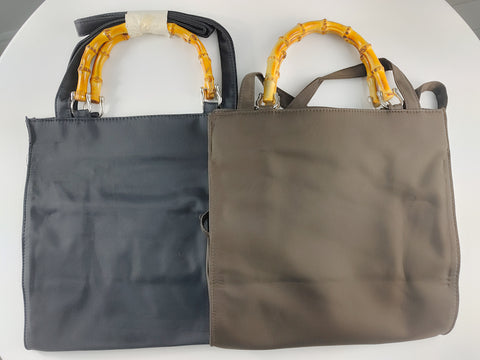Bamboo Handle Lunch Bag