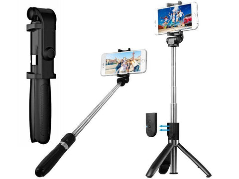 SELFIE STICK L01 3 IN 1 BLACK WIRELESS