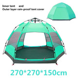 5-8 Person Double Layer Weather Resistant Outdoor Camping Tent