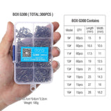 300pcs/Box High Carbon Steel Mixed Size Fishing hooks