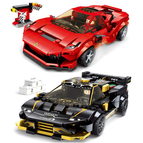 Speed Champions F8 Tributolys Huracan Super Trofeo EVO Car Building Blocks Kits