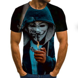 Men/women Joker Face 3D Printed Fashion T-shirts
