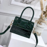 Mini Small PU Leather Crocodile pattern Chain Shoulder Women's Handbag