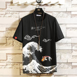 Funny Anime Print Cotton Oversized Men T Shirt