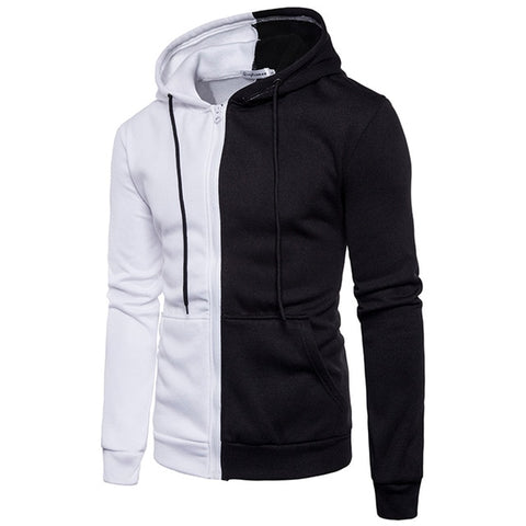 Scarf Collar Fashion Hooded Men Casual Fleece Jackets