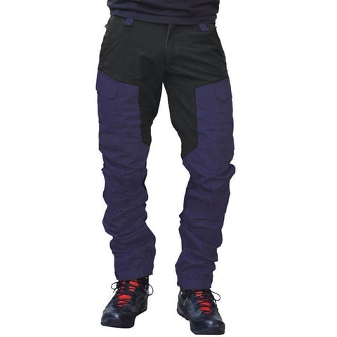 Casual Men Fashion Color Block Multi Pockets Long Cargo Pants