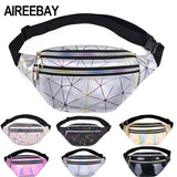 AIREEBAY Holographic Waist Bags Women