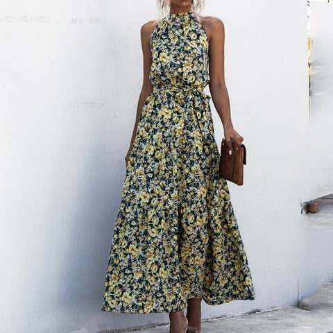 Elegant Sexy Printed long Dress