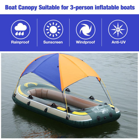 Inflatable Boat Fishing Sunshade Rain Top Cover
