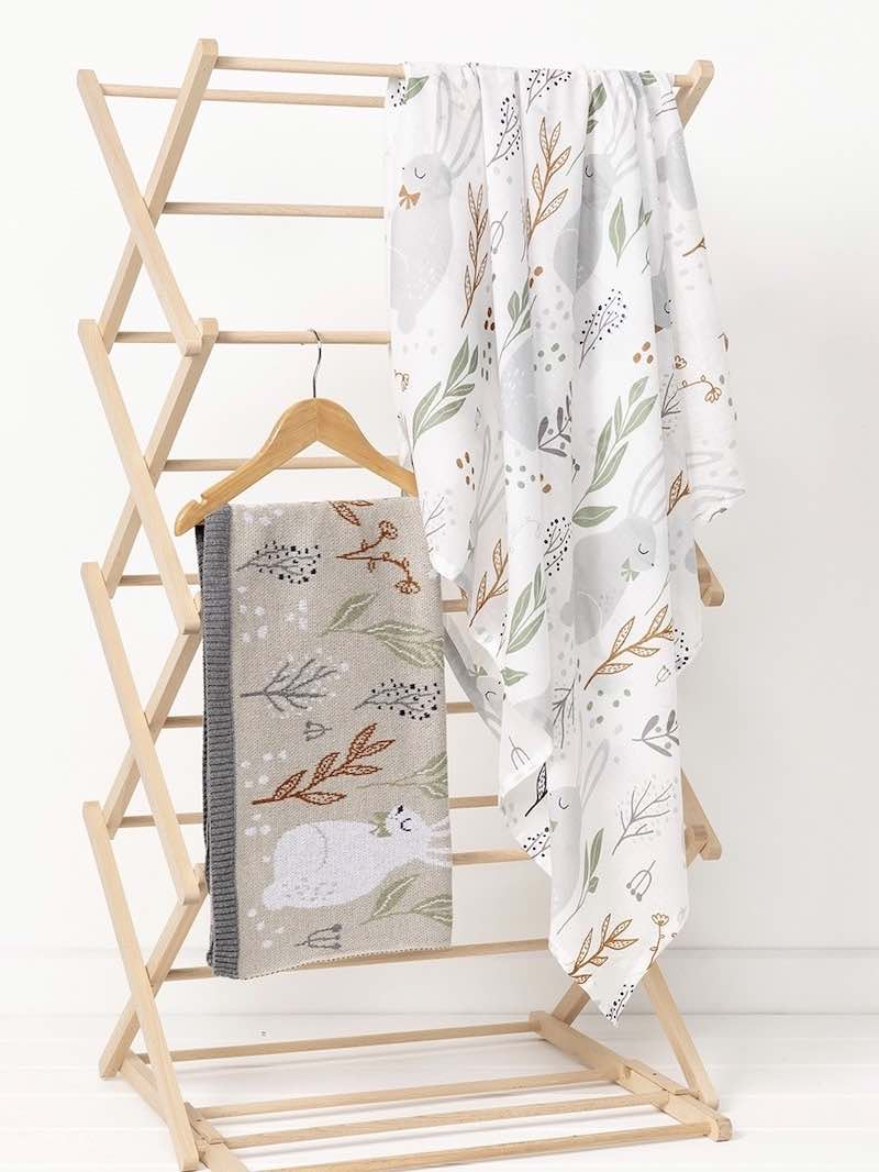 Indus Design Nature Bunny Baby Blanket and Swaddle