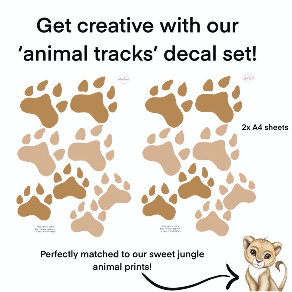 Isla Dream Prints Animal Tracks Fabric Wall Decals
