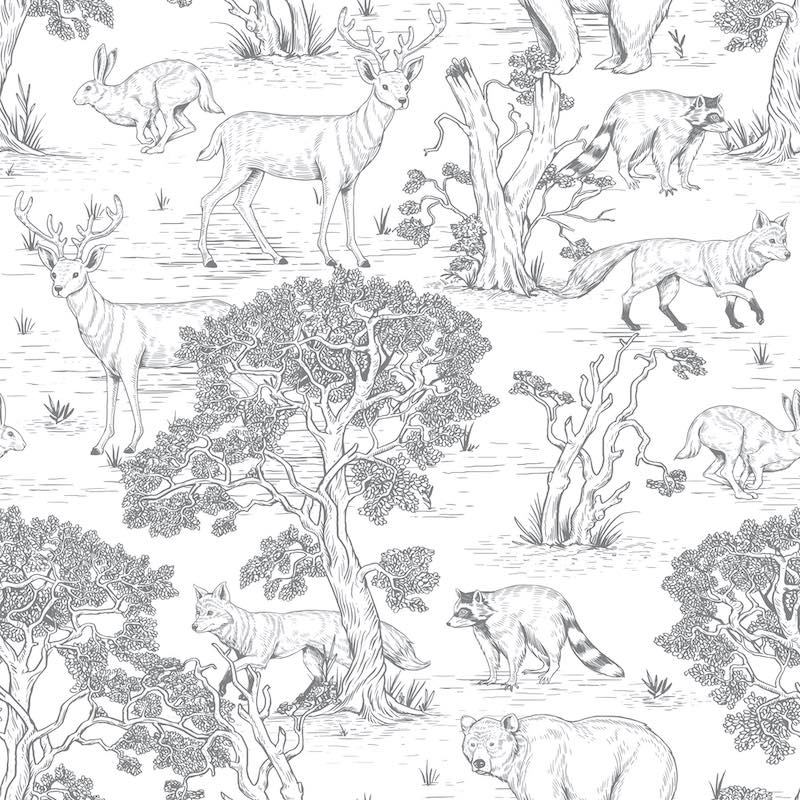 Dekornik Animals Wallpaper - White