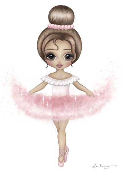 Isla Dream Prints Ariana The Ballerina Print in Pink
