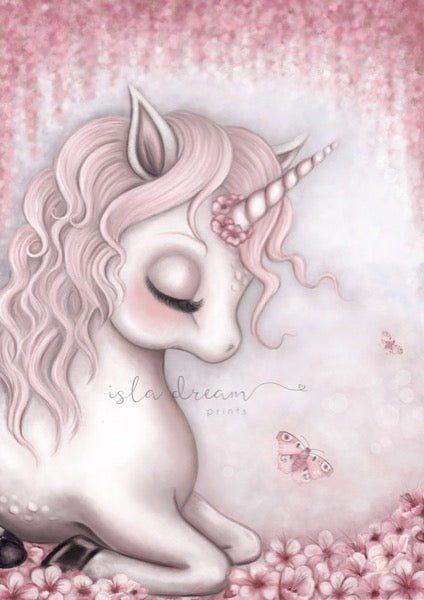 Isla Dream Prints Aubrey The Unicorn Print