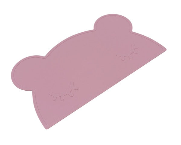We Might Be Tiny Dusty Rose Bear Placemat