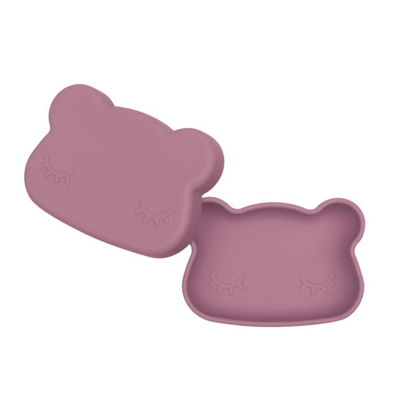 We Might Be Tiny Dusty Rose Bear Snack Container